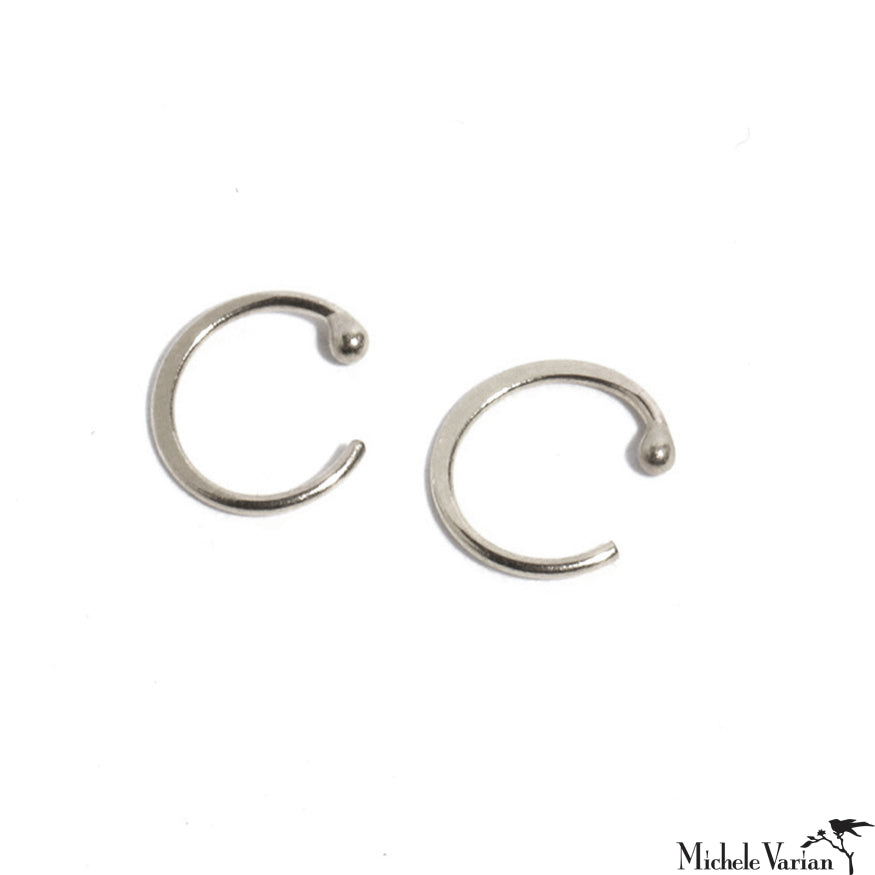 Small Silver Hugger Hoops