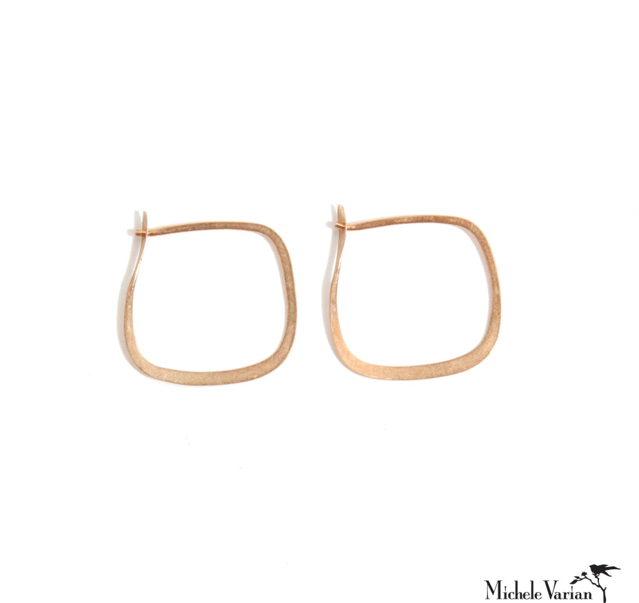 Small Gold Square Hoop
