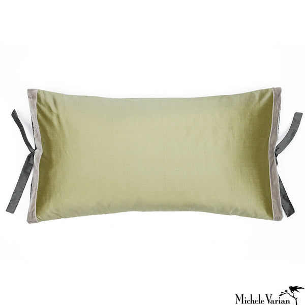 Silk Dupioni Pillow Celery 12x22