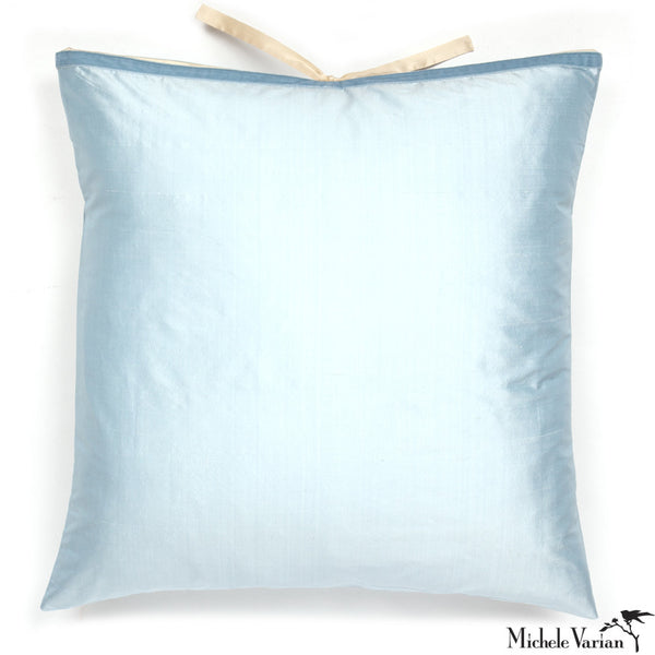 Silk Dupioni Pillow Sky Blue 22x22