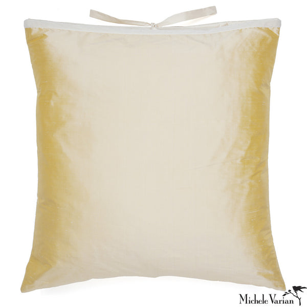 Silk Dupioni Pillow Lemon 22x22