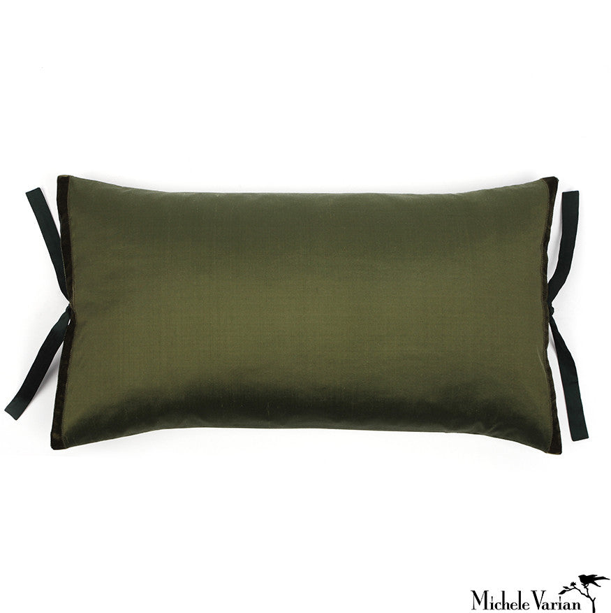 Silk Dupioni Pillow Bottle 12x22