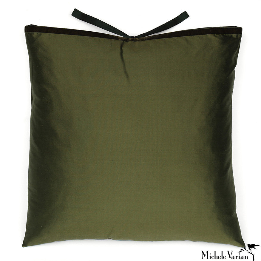 Silk Dupioni Pillow Bottle 22x22
