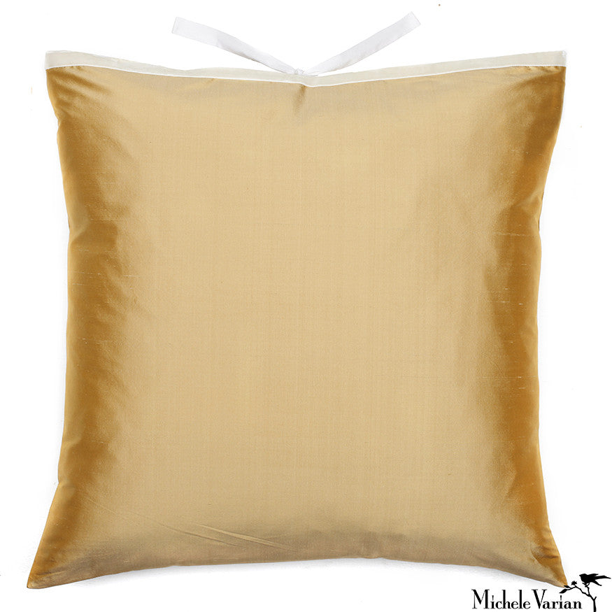 Silk Dupioni Pillow Butter 22x22