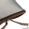 Silk Dupioni Pillow Carbon 12x22