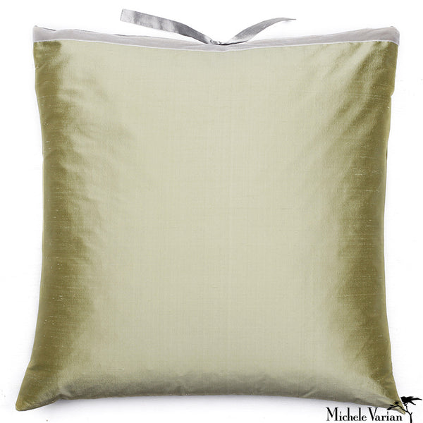 Silk Dupioni Pillow Celery 22x22
