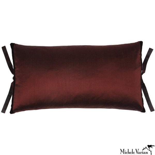 Silk Dupioni Pillow Chocolate 12x22