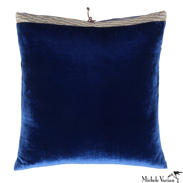 Silk Velvet Pillow Cobalt 20x20