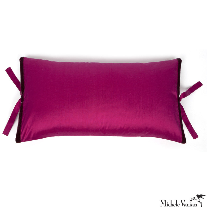 Silk Dupioni Pillow Flamenco Pink 12x22