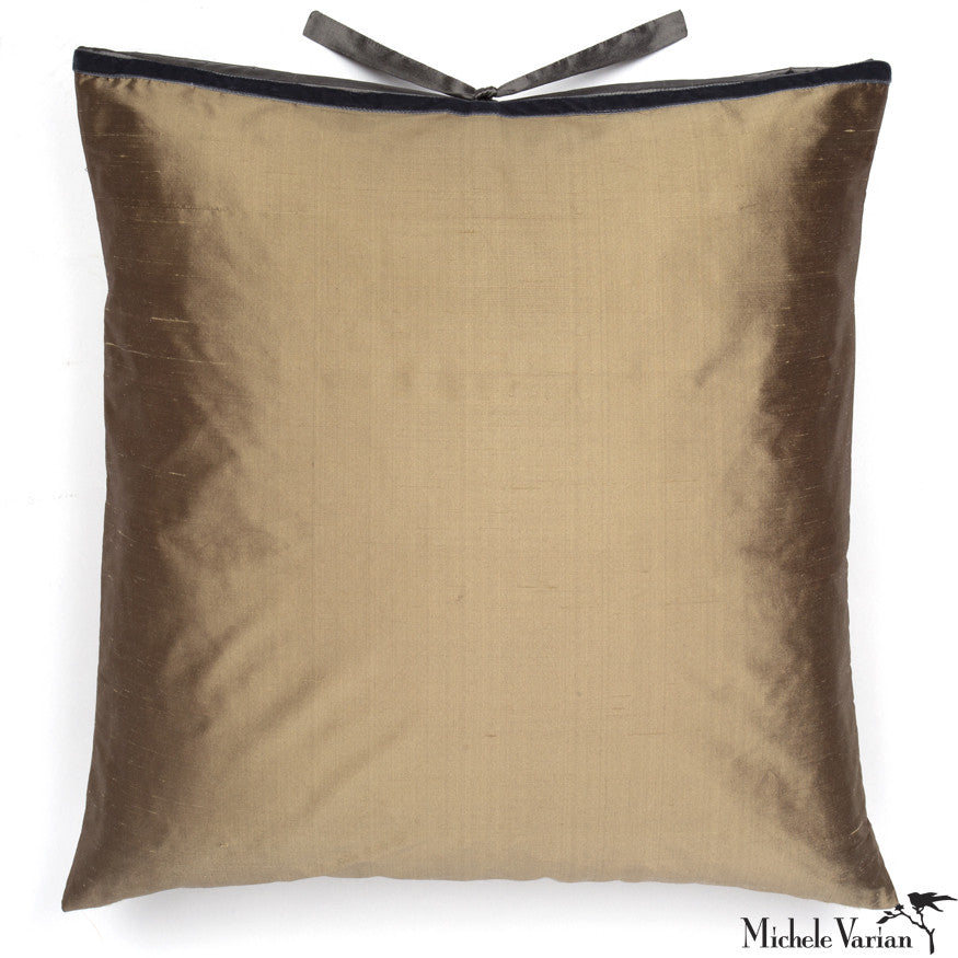 Silk Dupioni Pillow Gold 22x22