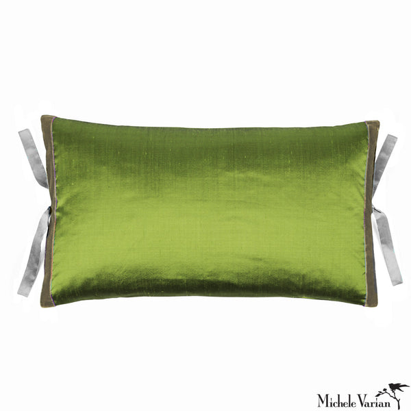 Silk Dupioni Pillow Grass 12x22