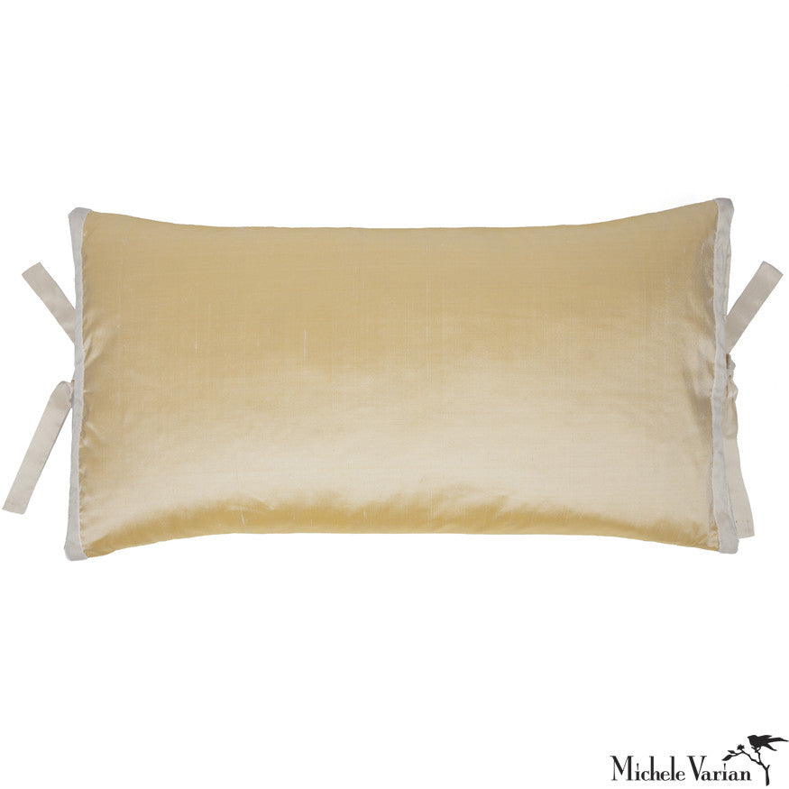 Silk Dupioni Pillow Lemon 12x22