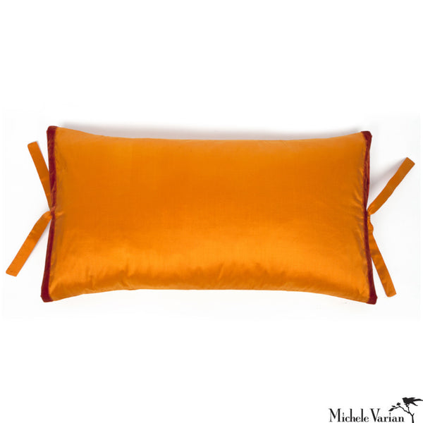 Silk Dupioni Pillow Mandarin 12x22