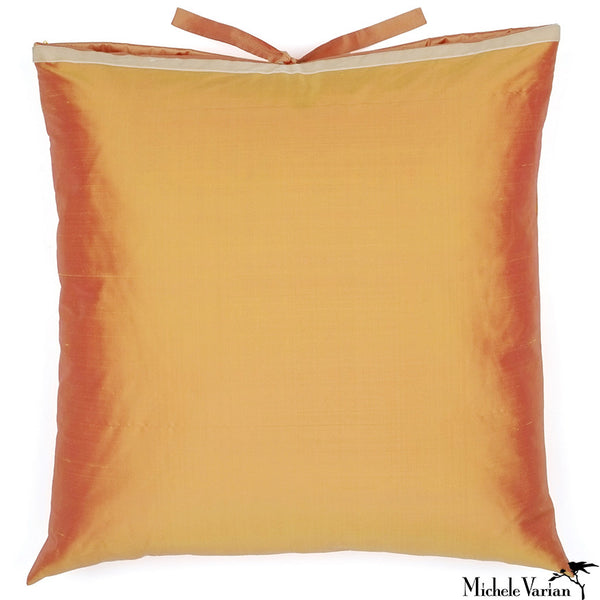 Silk Dupioni Pillow Marigold Square 22x22
