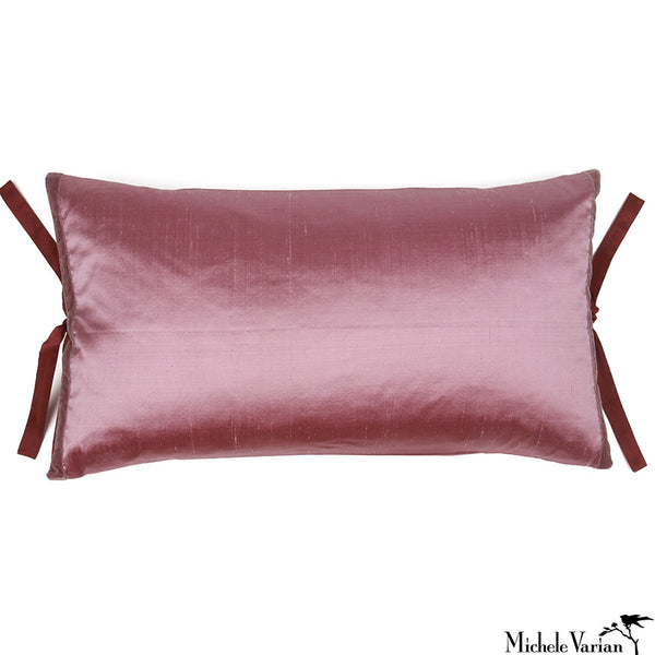 Silk Dupioni Pillow Mauve 12x22