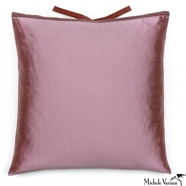 Silk Dupioni Pillow Mauve 22x22