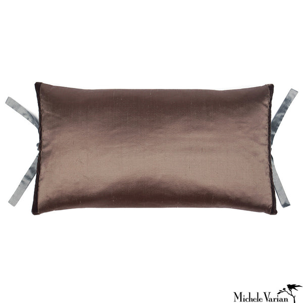 Silk Dupioni Pillow Mudd 12x22