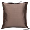 Silk Dupioni Pillow Mudd 22x22