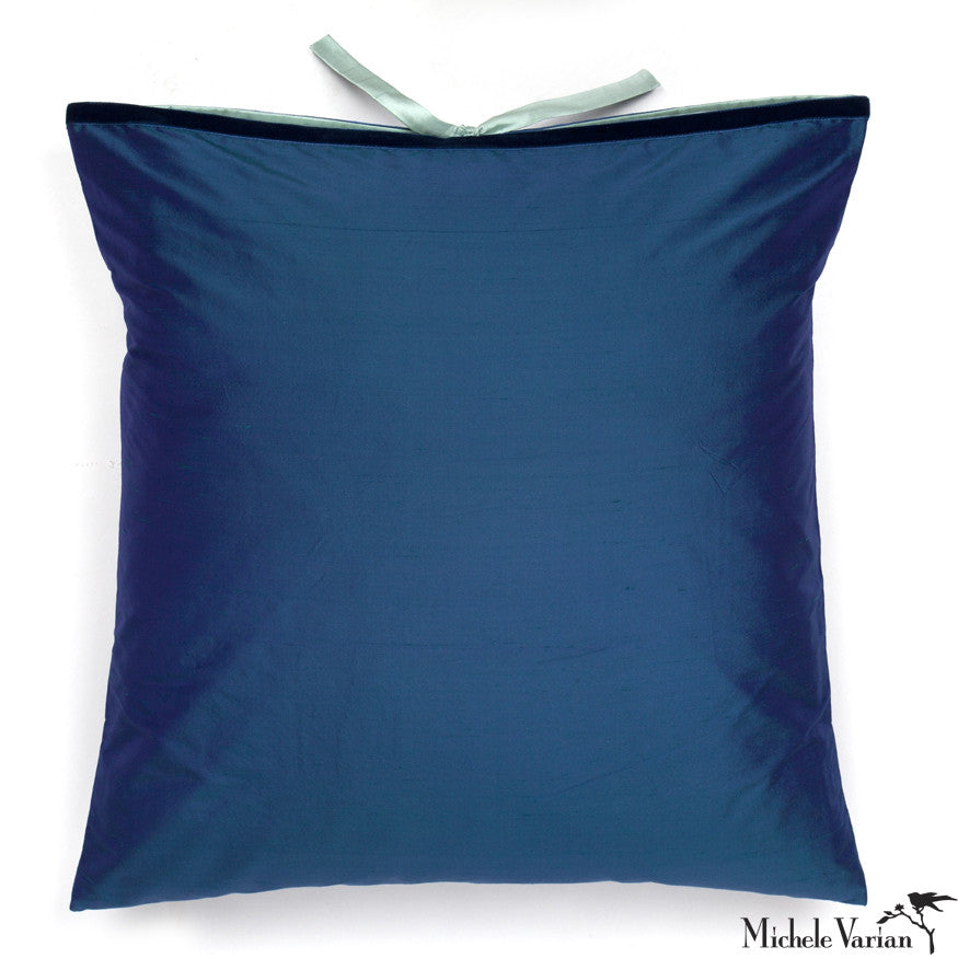 Silk Dupioni Pillow Peacock 22x22