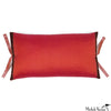 Silk Dupioni Pillow Persimmon 12x22