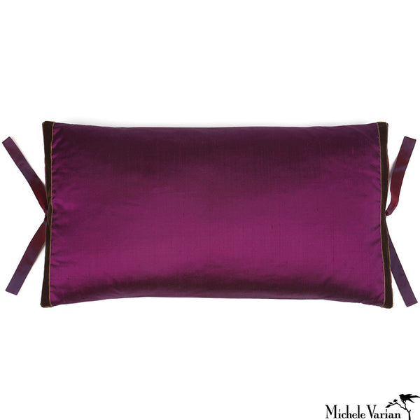 Silk Dupioni Pillow Plum 12x22
