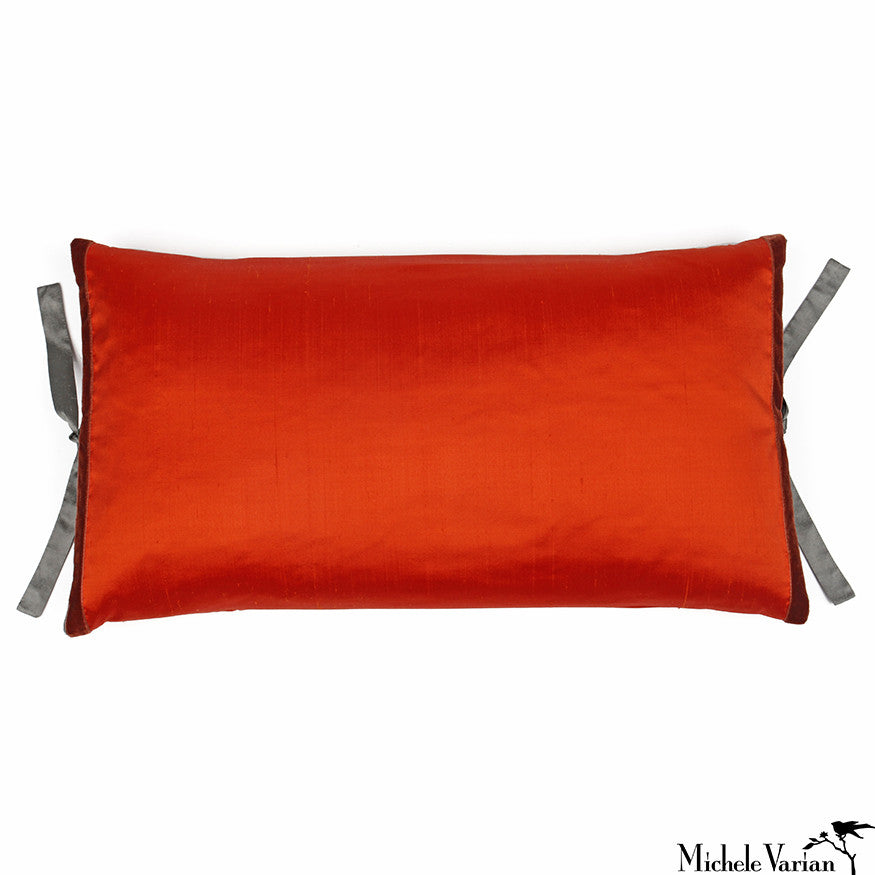 Silk Dupioni Pillow Pomegranate 12x22