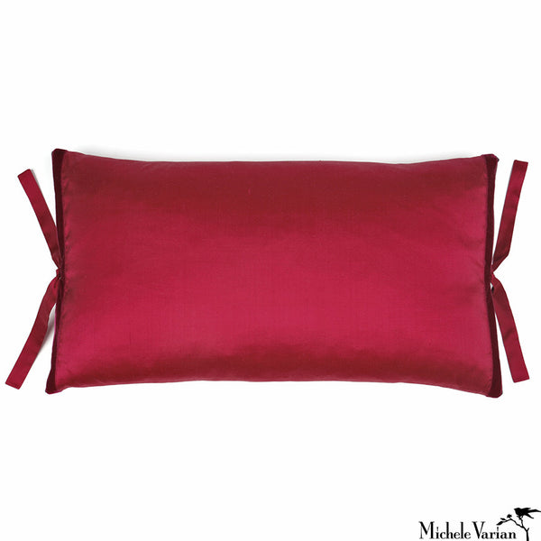 Silk Dupioni Pillow Raspberry 12x22