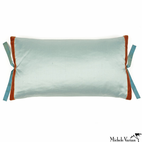 Silk Dupioni Pillow Robins Egg 12x22