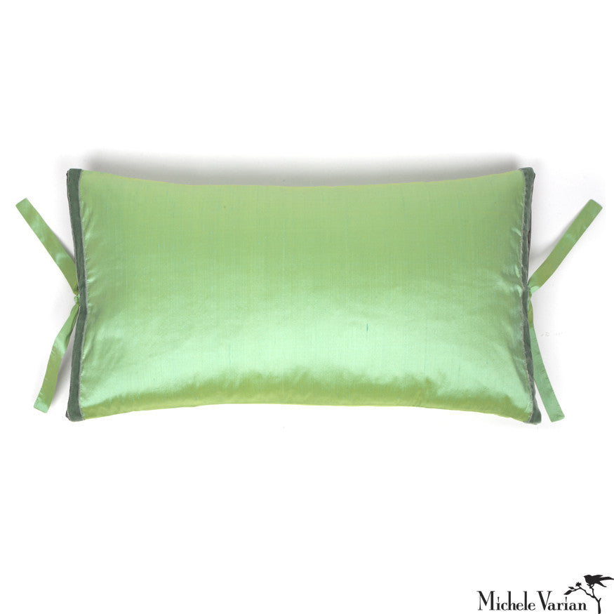Silk Dupioni Pillow Sea Mint 12x22