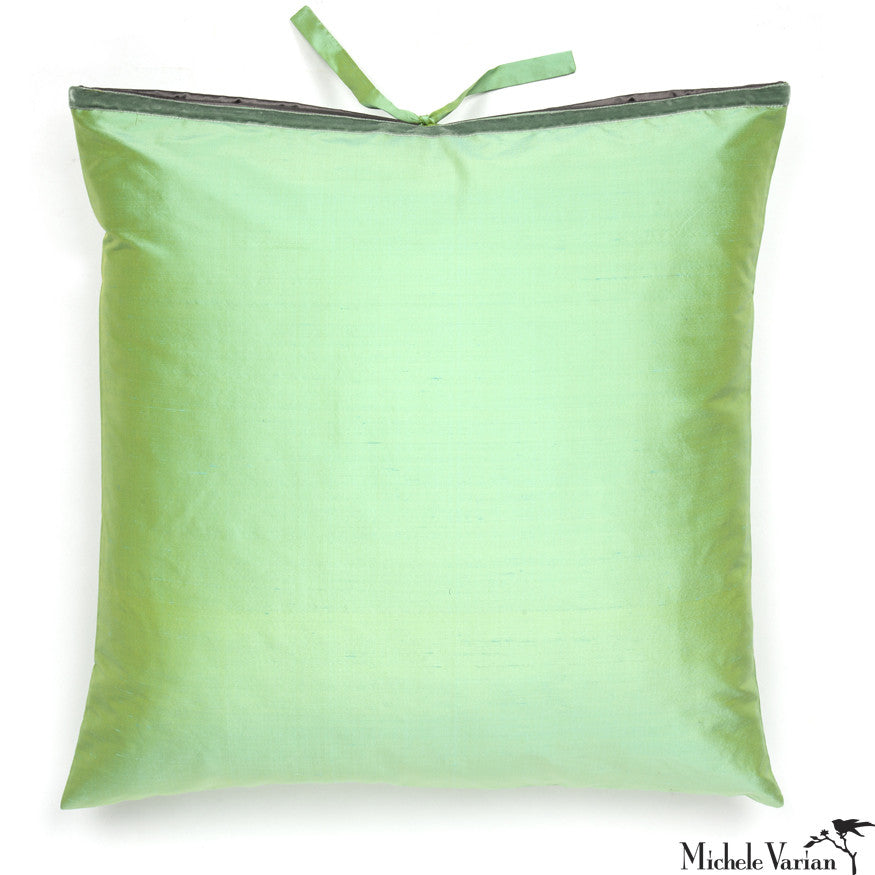 Silk Dupioni Pillow Sea Mint 22x22