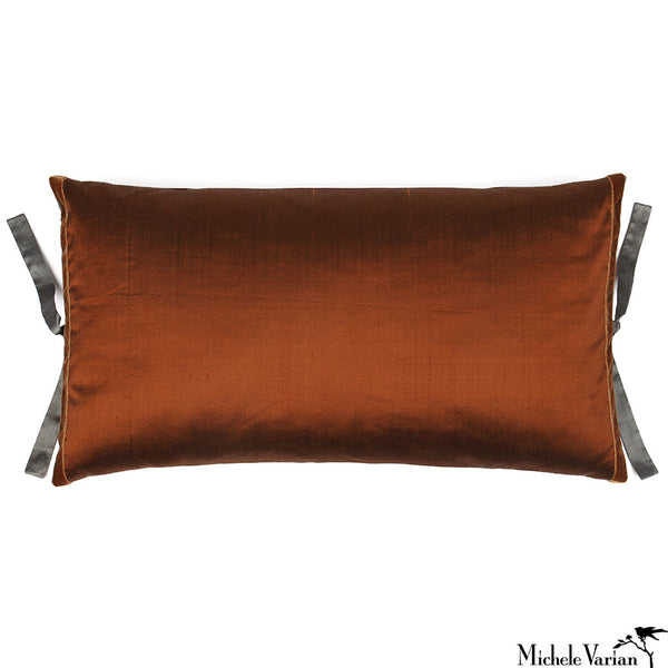 Silk Dupioni Pillow Sienna 12x22
