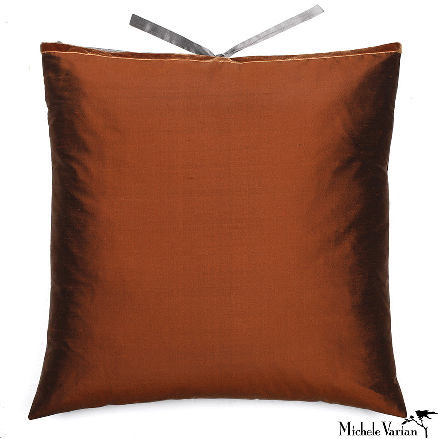 Silk Dupioni Pillow Sienna 22x22