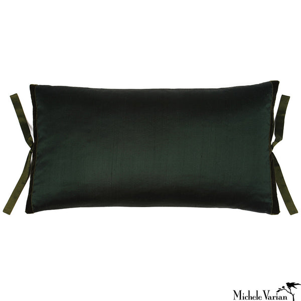 Silk Dupioni Pillow Spruce 12x22