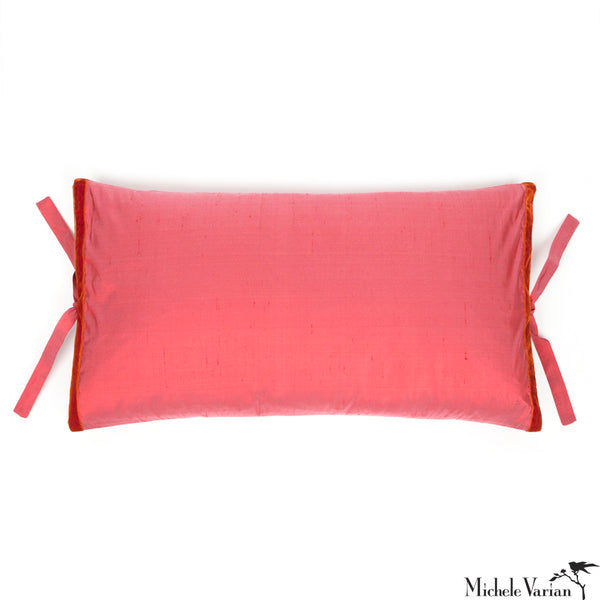 Silk Dupioni Pillow Watermelon 12x22