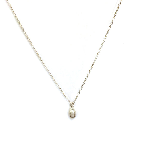 Sterling Silver Egg Necklace