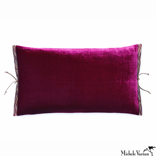 Silk Velvet Pillow Azalea 12x22