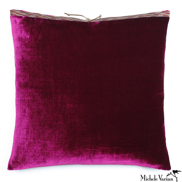 Silk Velvet Pillow Azalea 20x20