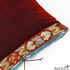 Silk Velvet Pillow Bordeaux 20x20