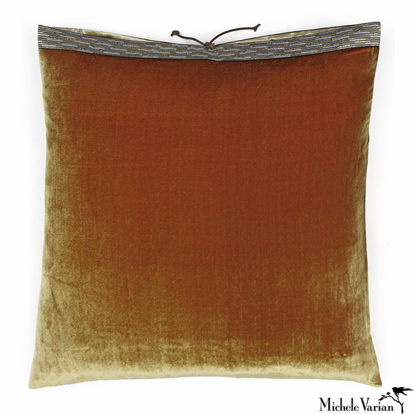 Silk Velvet Pillow Burnished Gold 20x20