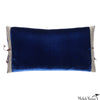 Silk Velvet Pillow Cobalt 12x22