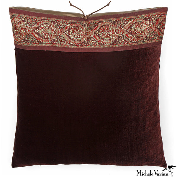 Silk Velvet Pillow Cocoa 20x20