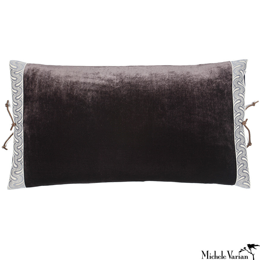Silk Velvet Pillow Dusk 12x22