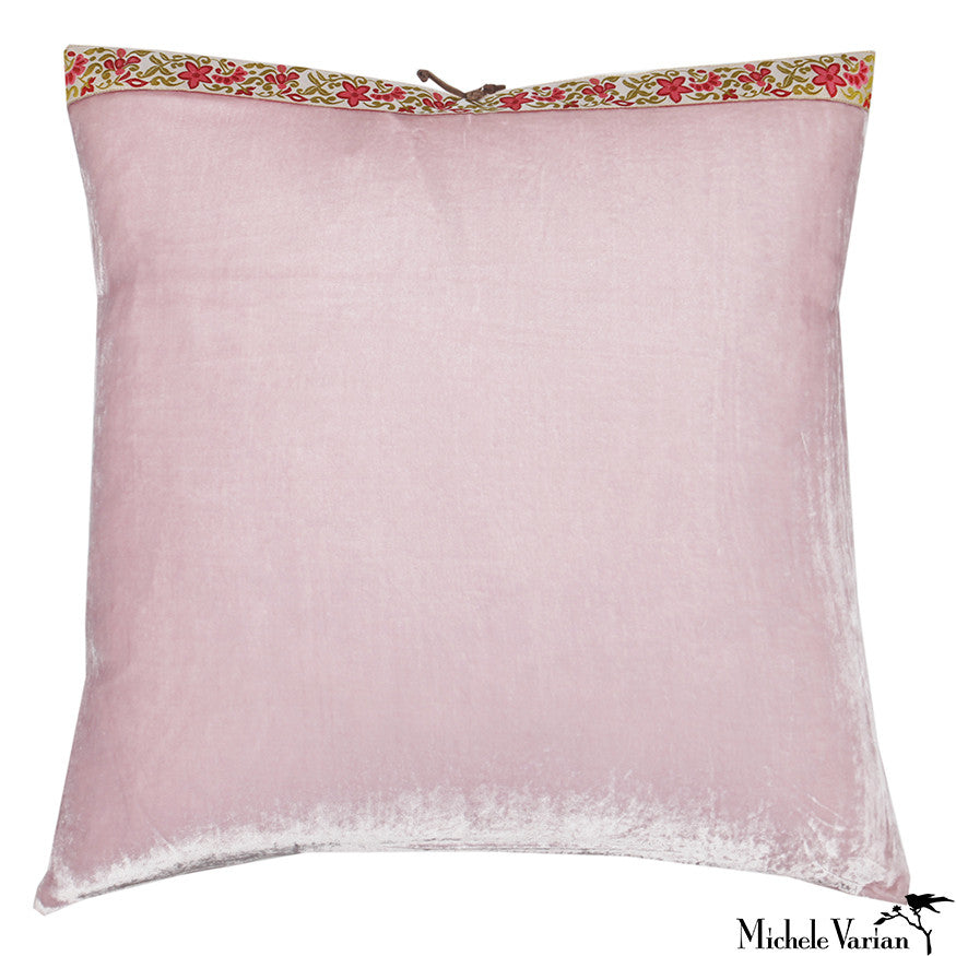 Silk Velvet Pillow Icy Pink 20x20