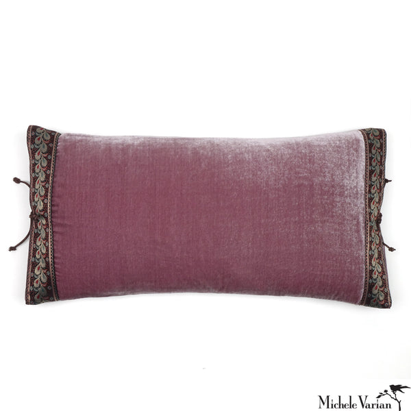 Silk Velvet Pillow Mauve Mist 12x22