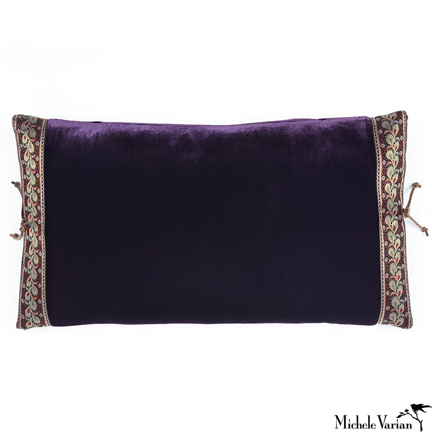 Silk Velvet Pillow Monarch 12x22