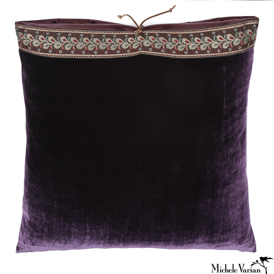 Silk Velvet Pillow Monarch 20x20