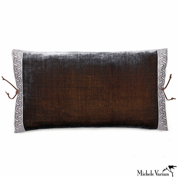 Silk Velvet Pillow Moose 12x22