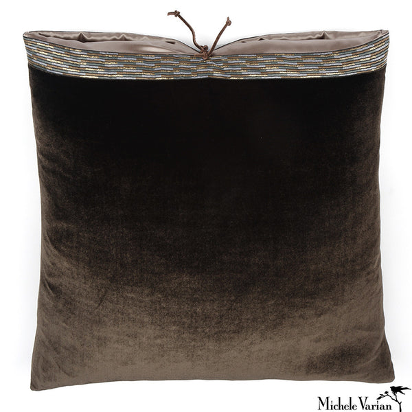 Silk Velvet Pillow Mudd 20x20
