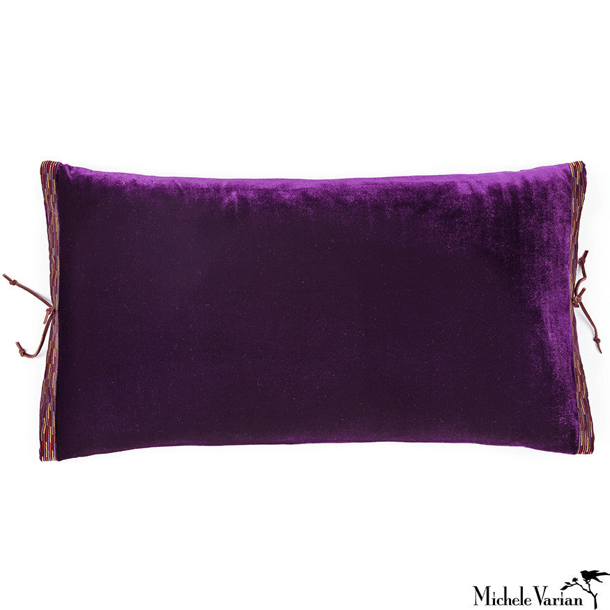 Silk Velvet Pillow Plum 12x22
