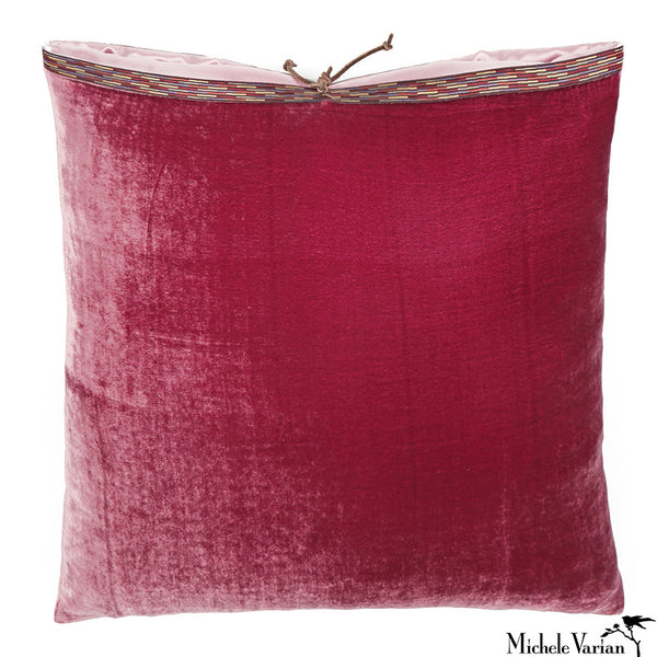 Silk Velvet Pillow Raspberry 20x20